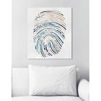 Oliver Gal 'Vacation Thumbprint'  Canvas Art