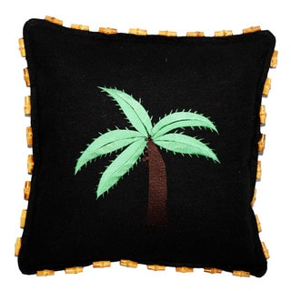 Handmade Black Hemp Pillow (China)