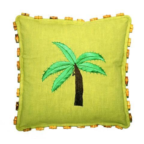 Handmade Green Hemp Pillow