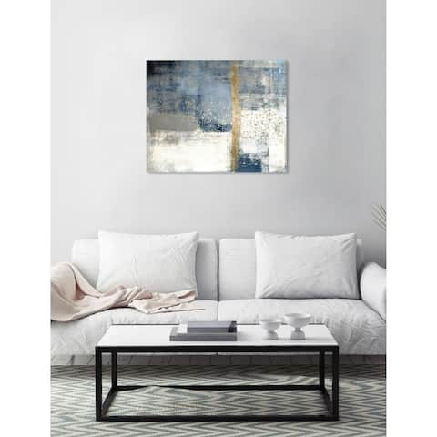 Oliver Gal 'In The Mid Summer' Abstract Wall Art Canvas Print - Blue, White