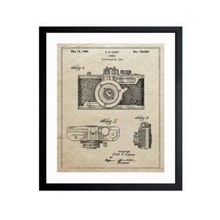 Oliver Gal 'Cazin Camera 1940 Parchment Framed Art