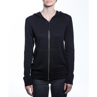 Women's Cashmere Blend Zip-up Hoodie