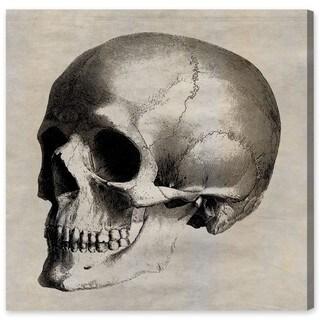 Oliver Gal Skull Side Canvas Art