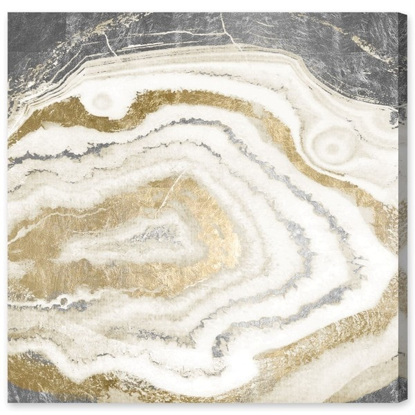 Oliver Gal 'Silve Gold Agate' Canvas Art