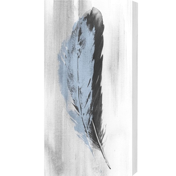 Oliver Gal Blue Feather Canvas Art On Free Shipping Today 13435900
