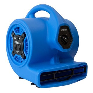 XPOWER P-100A 1/8 HP Mini Air Blower with Built-in Power Outlets