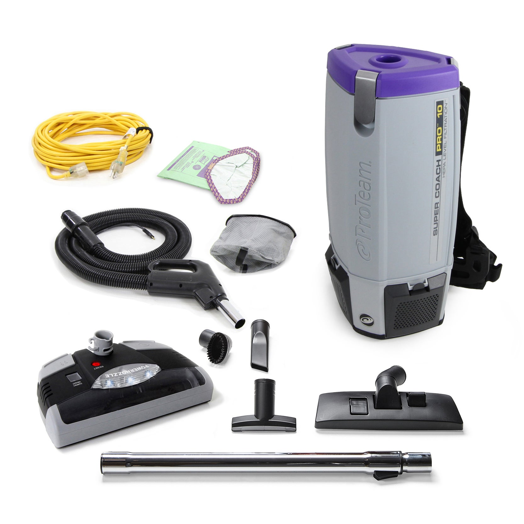 ProTeam Super Coach Pro 10 QT Vacuum Cleaner with Power H...