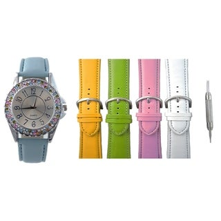 Link to Womens Interchangeable Watch Set 2 Row Crystal Bezel 5 Bands Similar Items in Women's Watches