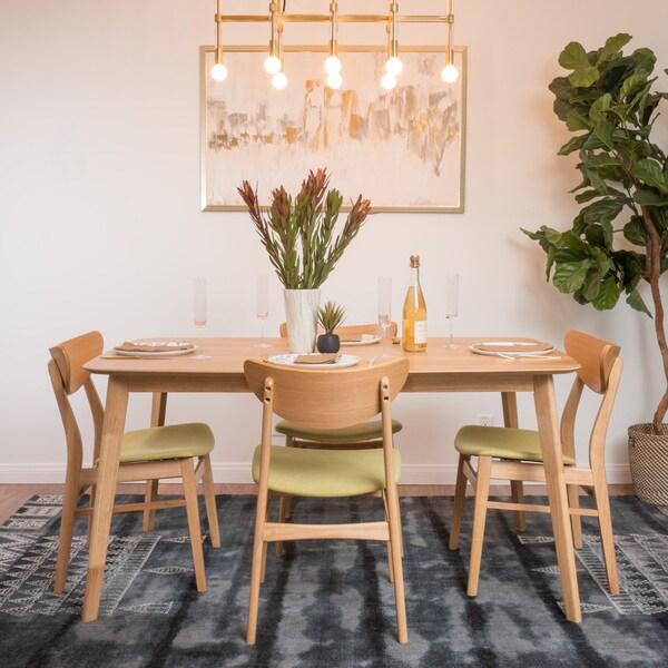 Shop Anise 5-piece Wood Large Rectangular Dining Set By