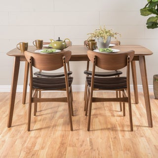 Link to Anise 5-piece Wood Rectangular Dining Set by Christopher Knight Home Similar Items in Dining Room & Bar Furniture