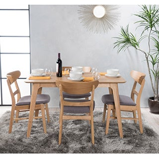 Idalia 5 Piece Wood Rectangular Dining Set By Christopher Knight Home