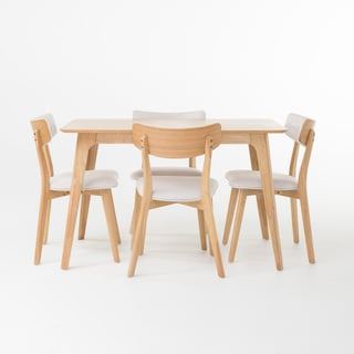Fauna 5-piece Wood Rectangular Dining Set by Christopher Knight Home