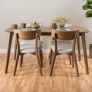 Christopher Knight Home Fauna 5-piece Wood Rectangular Dining Set
