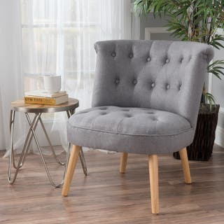 tufted living room chair. Cicely Tufted Fabric Accent Chair by Christopher Knight Home Chairs Living Room For Less  Overstock com