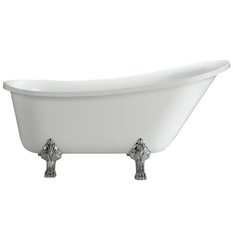 "Jacqueline Soaking Claw Foot Bathtub (63"" x 28"")"