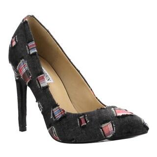 Cape Robbin Women's FF84 Denim Slip-on Stiletto Heel Pumps
