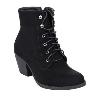 Refresh Women's Faux Suede Ankle Booties
