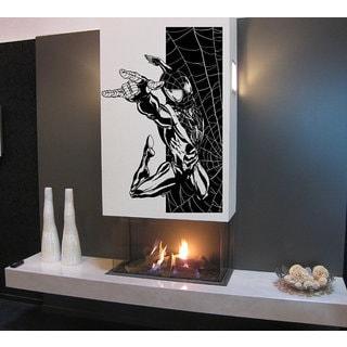 Spiderman jumping, Superheroes decal, Superheroes stickers, Superheroes Vinyl Sticker Decal Size 22x30 Color Black