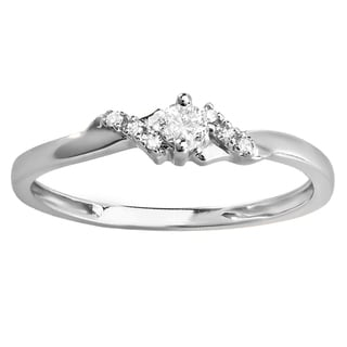 18k Gold 1/5ct TDW Round Diamond Bridal Promise Engagement Ring (I-J, I2-I3)