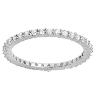 18k White Gold 5/8ct TDW Round Diamond Eternity Anniversary Stackable Ring Wedding Band (H-I, I1-I2)