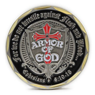 Armor of God Ephesians 6:10:18 Shield Coin