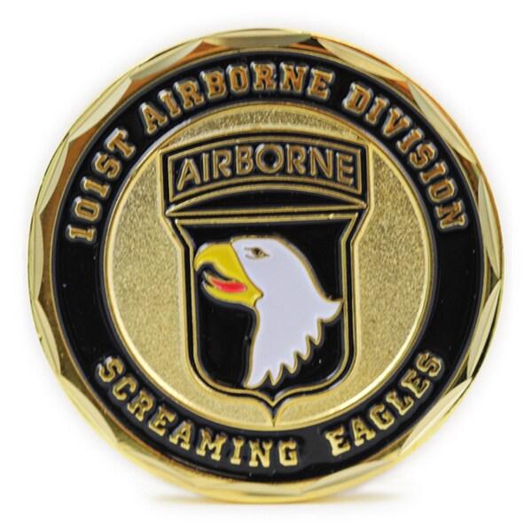 101st Airborne Division Screaming Eagles Gold-tone Metal 42-millimeter Diameter Coin