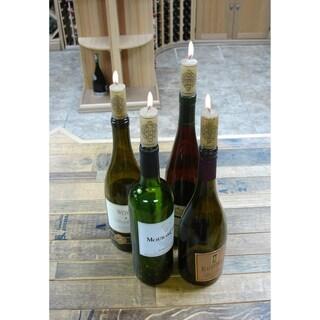 Epicureanist Brown Wax Wine Cork Candles (Set of 20)