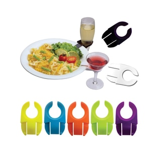 Epicureanist Solid-colored Plastic Stemware Plate Clips