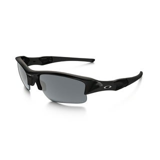 Oakley Unisex Flak Jacket Jet Black and Black Iridium Lens Plastic Sunglasses