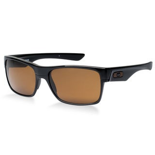 Oakley Men's Twoface Polished Black and Bronze Lens Plastic Rectangular Sunglasses