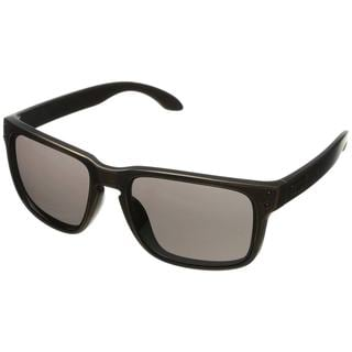 Oakley Men's Holbrook Black/Grey Rectangular Sunglasses