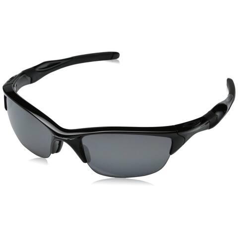 Oakley Men's Half Jacket 2.0 Polished Black Plastic Frame Black Iridium Polarized Lens Sunglasses