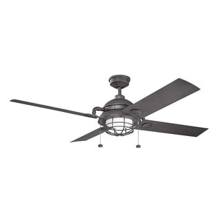 Kichler Lighting Maor Collection 65-inch Distressed Black Ceiling Fan w/LED Light