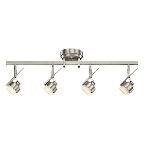 Kichler Lighting Contemporary 4-light Brushed Nickel LED Rail Light