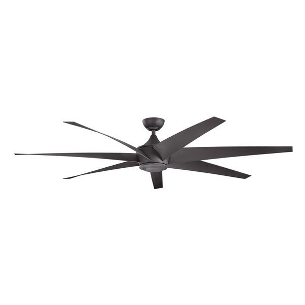 Kichler Lighting Lehr Collection 80 Inch Distressed Black Ceiling Fan