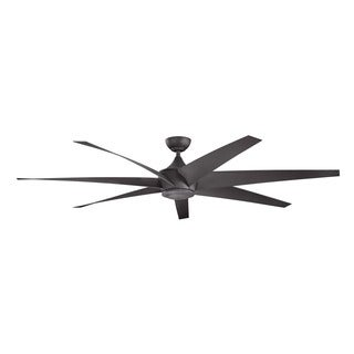 Kichler Lighting Lehr Collection 80-inch Distressed Black Ceiling Fan