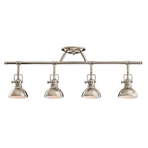 Kichler Lighting Hatteras Bay Collection 4-light Polished Nickel Halogen Rail Light