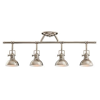 Kichler Lighting Hatteras Bay Collection 4-light Polished Nickel Halogen Rail Light