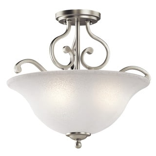 Kichler Lighting Camerena Collection 3-light Brushed Nickel Semi-Flush Mount