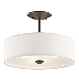 Kichler Lighting Shailene Collection 1-light Olde Bronze Semi-Flush Mount