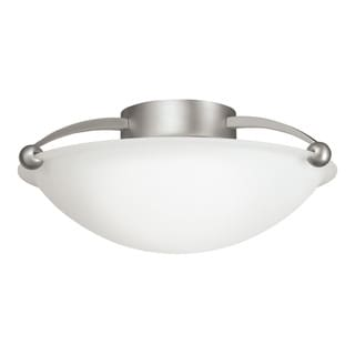 Kichler Lighting Contemporary 2-light Brushed Nickel Semi-Flush Mount