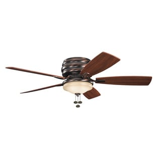 Kichler Lighting Windham Collection 52-inch Oil Brushed Bronze Ceiling Fan