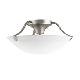 Kichler Lighting Transitional 3-light Brushed Nickel Semi-Flush Mount