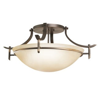 Kichler Lighting Olympia Collection 3-light Olde Bronze Semi-Flush Mount