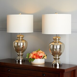 Safavieh Lighting Morocco Mercury Glass 28-inch Table L& (Set of 2)  sc 1 st  Overstock & Lamp Sets For Less | Overstock