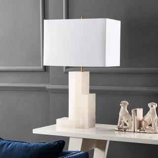 Safavieh Lighting 27.75 Inch Cora White Marble Table Lamp
