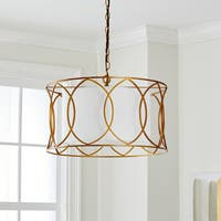 "Safavieh Lighting 21.5-inch Silas Gold Adjustable Pendant Lamp - 21.5"" x 21.5"" x 17-89"""
