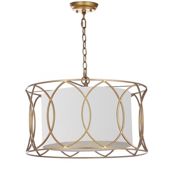 Safavieh Lighting Silas Gold 21.5-inch Adjustable Pendant Lamp