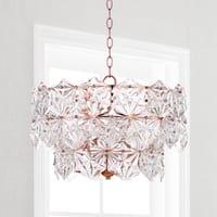 Safavieh Lighting Sia 4-light Copper Crystal Adjustable Pendant