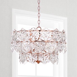Safavieh Lighting Sia 4-light Copper Crystal Adjustable Pendant